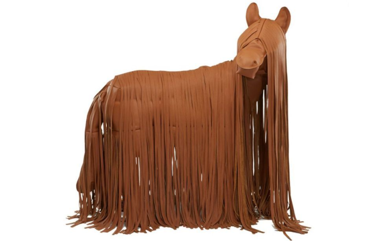 Check Out This Extravagantly Priced Life Sized Leather Horse from Hermes