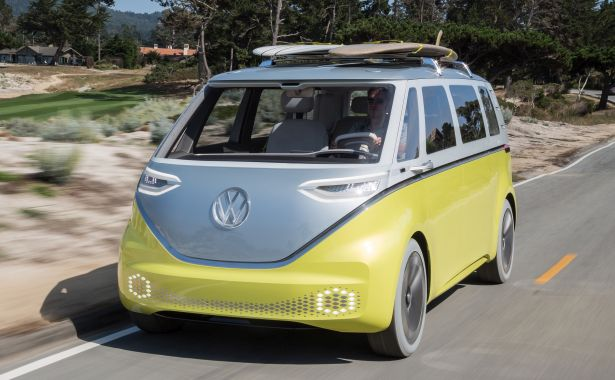 Volkswagen's I.D. Buzz, all-electric reincarnation of its Microbus will be available in 2022